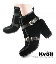 Designer Winter gefutterte Plateau Stiefel Stiefelette Ankle Boots Pumps High Heels Keilabsatz Wildleder