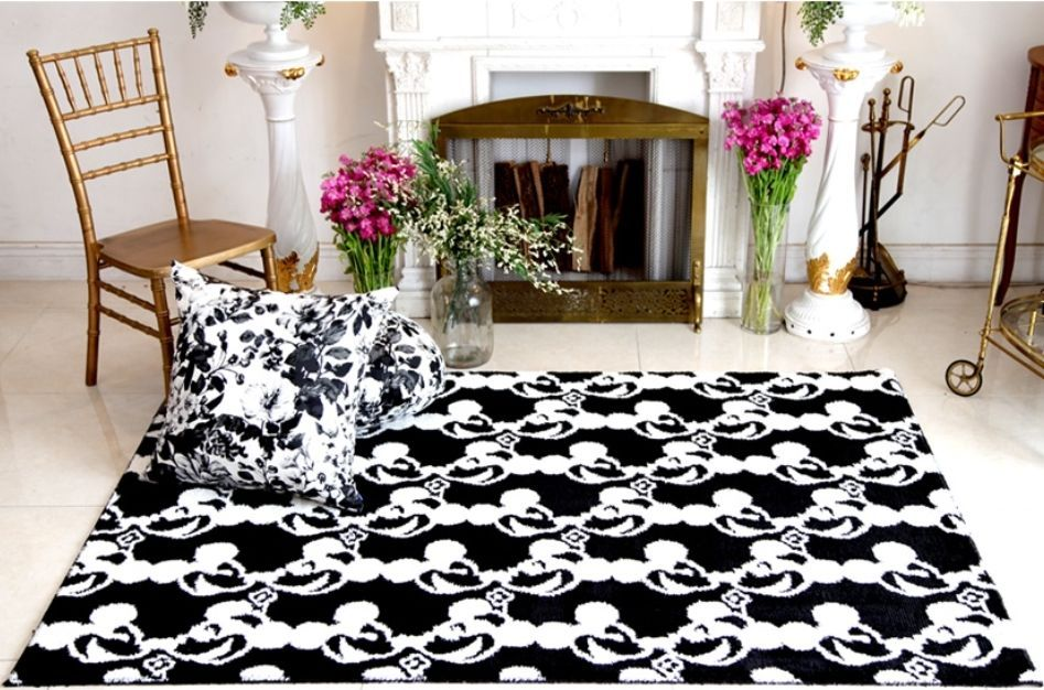 Black Mickey Mouse Carpet Disney Rug Floor Mat Disney Rug Rugs On Carpet Floor Rugs