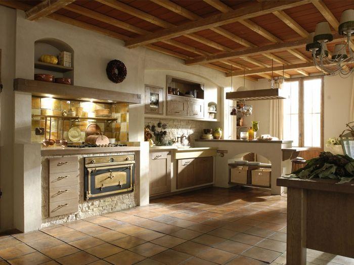 1001 ideas de cocinas rusticas c lidas y con encanto for Ideas para techos interiores
