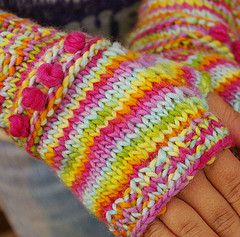 Fingerless Gloves - Very cool and colorful!  What fun!