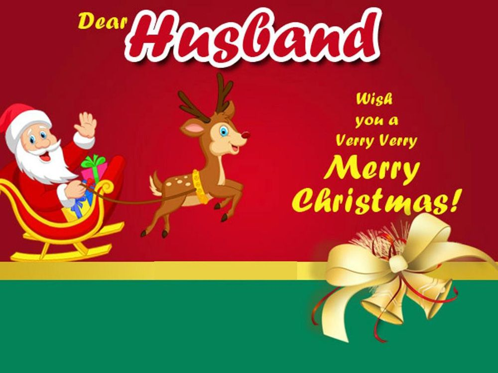 christmas card for husband from wife merry xmas card Happy Christmas Hubby Card