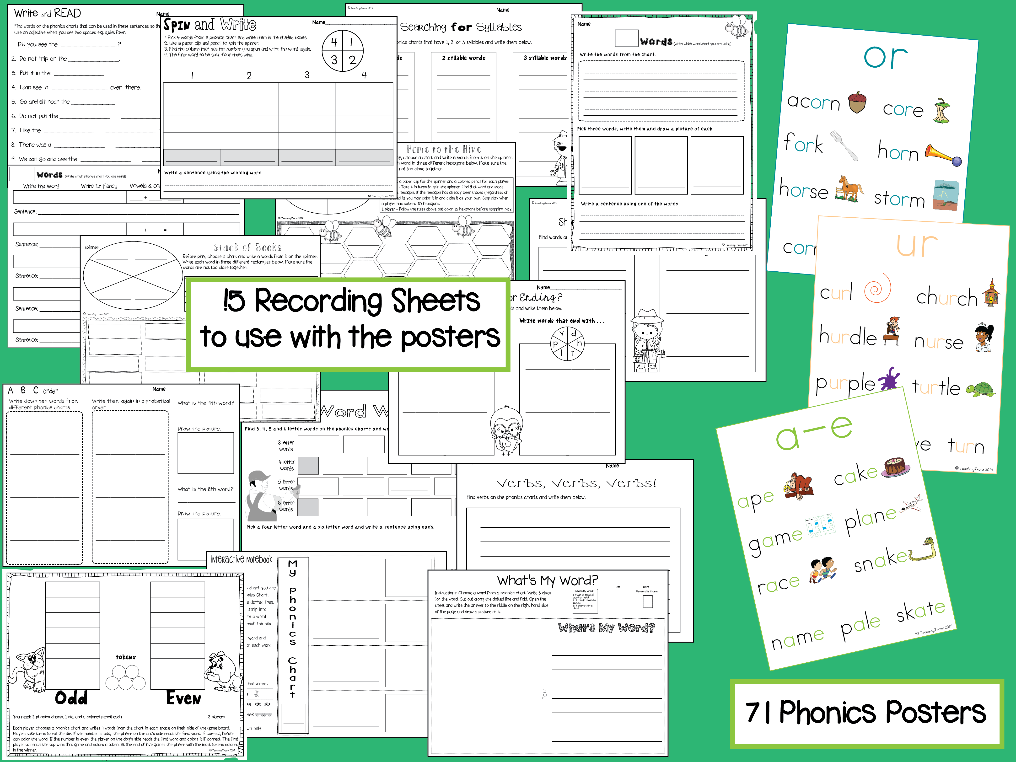 Phonics Posters For Blends Digraphs Trigraphs And