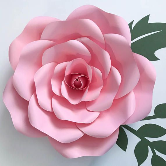 giant paper rose template pdf