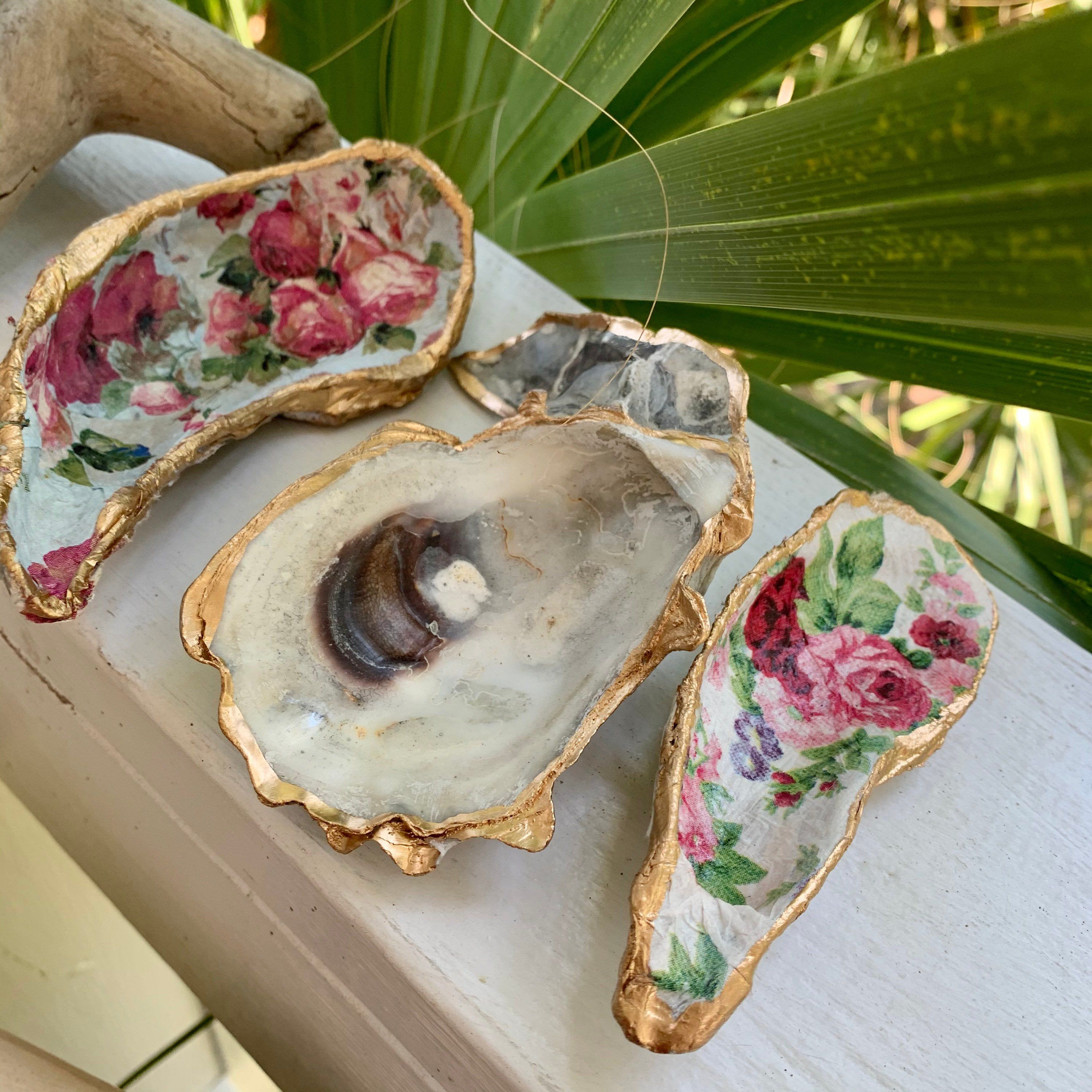 The Rosalina Smock Pair Of Oyster Shells Jewelry Etsy Oyster Shell Crafts Trinket Dishes Shell Jewelry