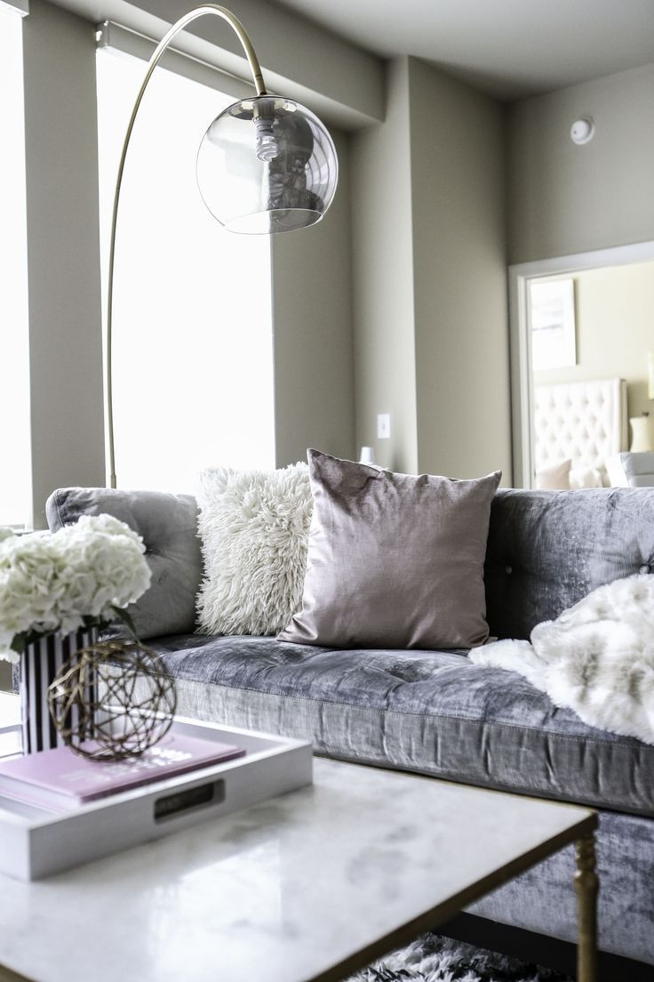 Sofasdesign Beatiful Appeared Leather Designs Lounger Tufted Velvet Silver Source First Sofas Gray Sofa Post In 2020 Wohnaccessoires Haus Deko Samt Sofa
