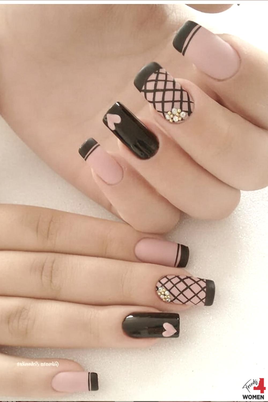 Cute Uv Gel Nail Gallery In 2020 Nail Art Designs Videos Purple Nail Art Heart Nail Designs