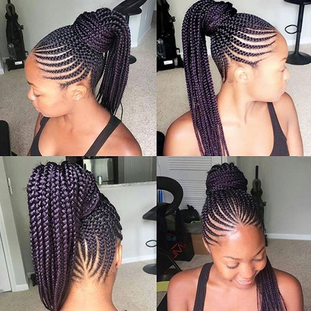 African Braided Lines Hairstyles