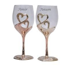 Heart Warming Couple Wine Glasses