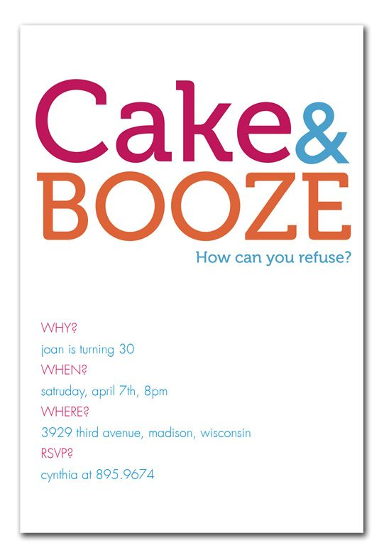 Cake And Booze