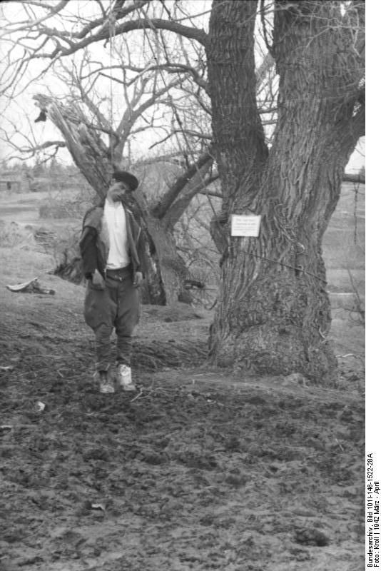 Hanged man ( partisan?).Russia March 1942