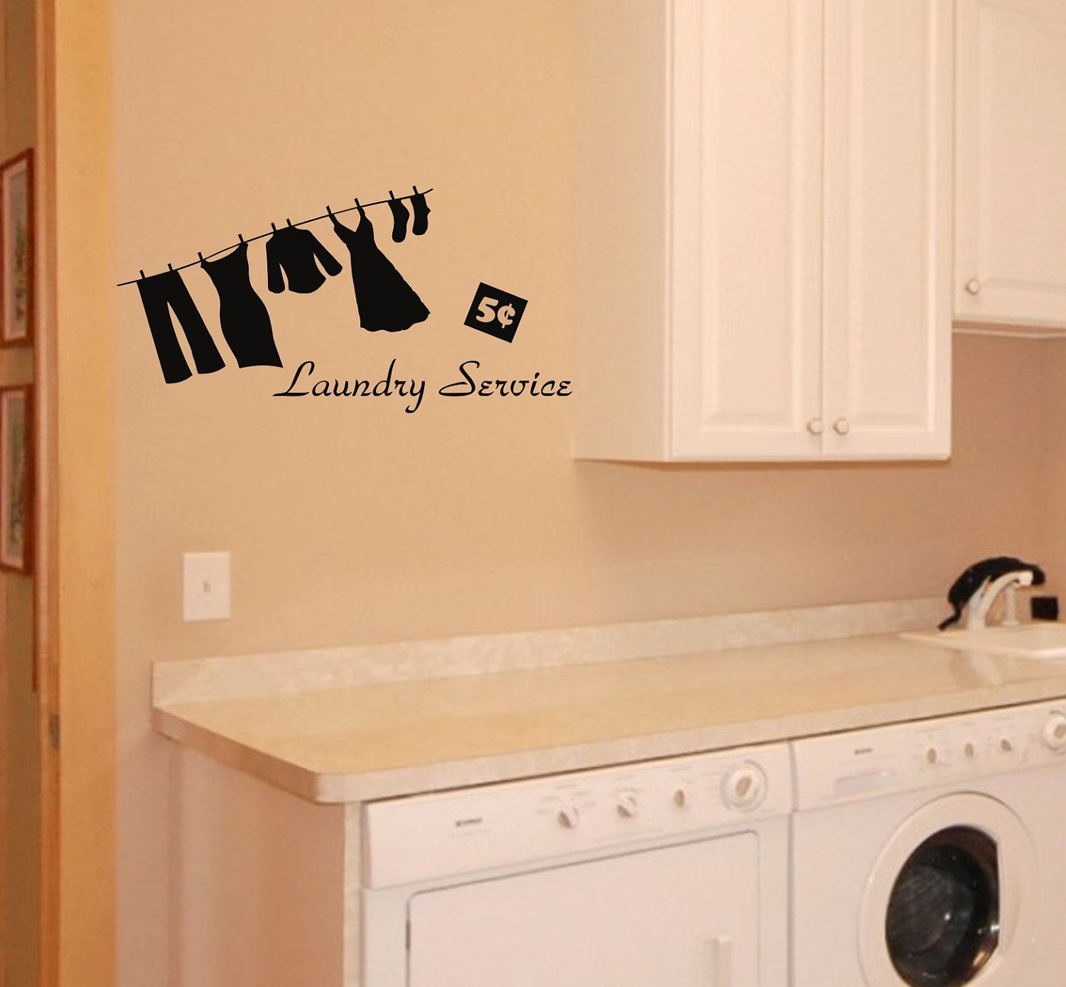 Laundry Room Wall Decor Stickers New Laundry Service Wall Decal  Home Decor  Pinterest  Laundry Inspiration