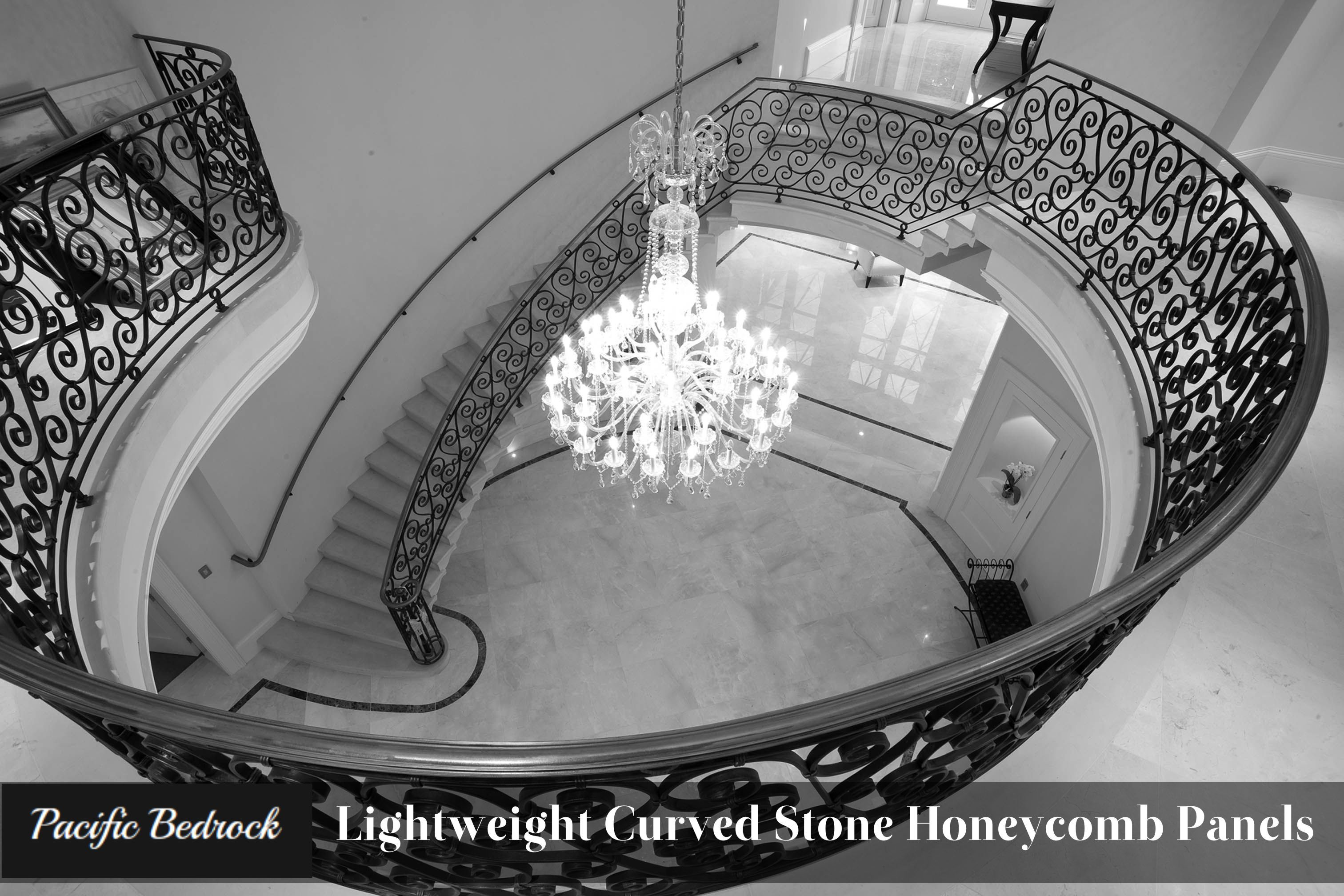 Lightweight Curved Stone Honeycomb Panels Pacificbedrock Http Bit Ly 1netyac Staircase Contemporary Staircase Design Staircase