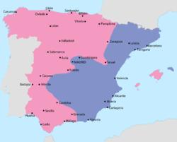Revolutionary Catalonia Wikipedia The Free Encyclopedia Civil War Map Spanish