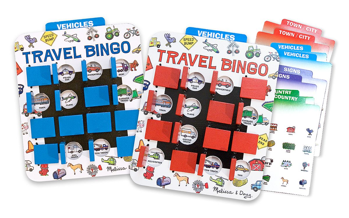 Toys for car journeys  Flip to Win Travel Bingo Travel Game  BINGO on the go Choose an