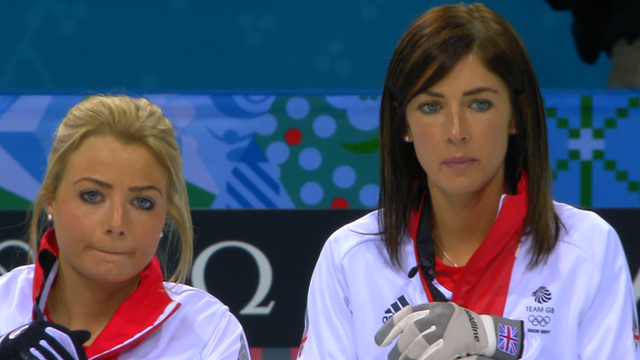 Canada's beat Great Britain 9-6 in a tight encounter on the third day of women's Olympic curling at Sochi 2014.