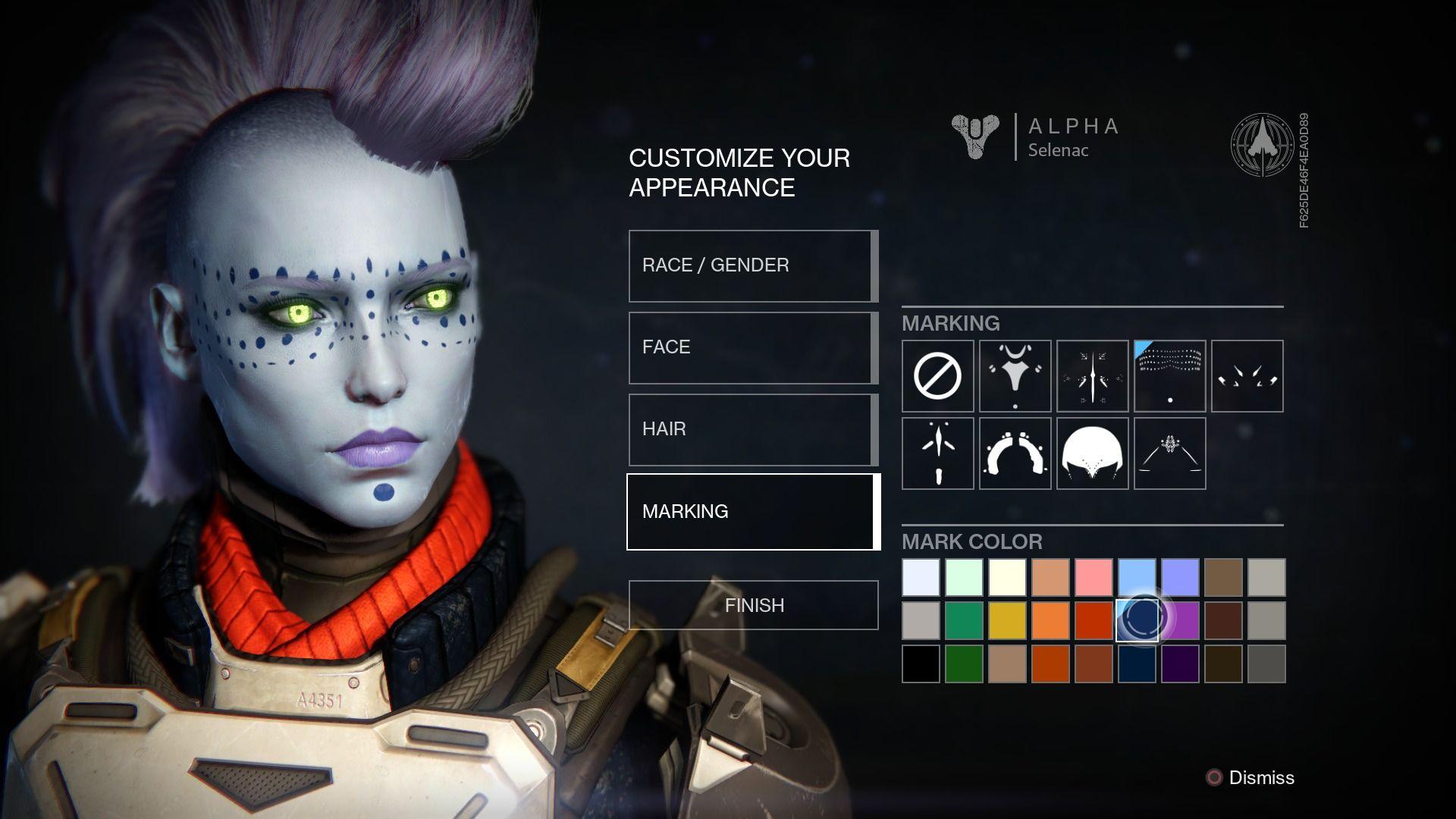 Character customisation for the female awoken race in ...