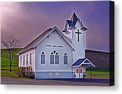 Country Church At Sunset Fine Art Prints