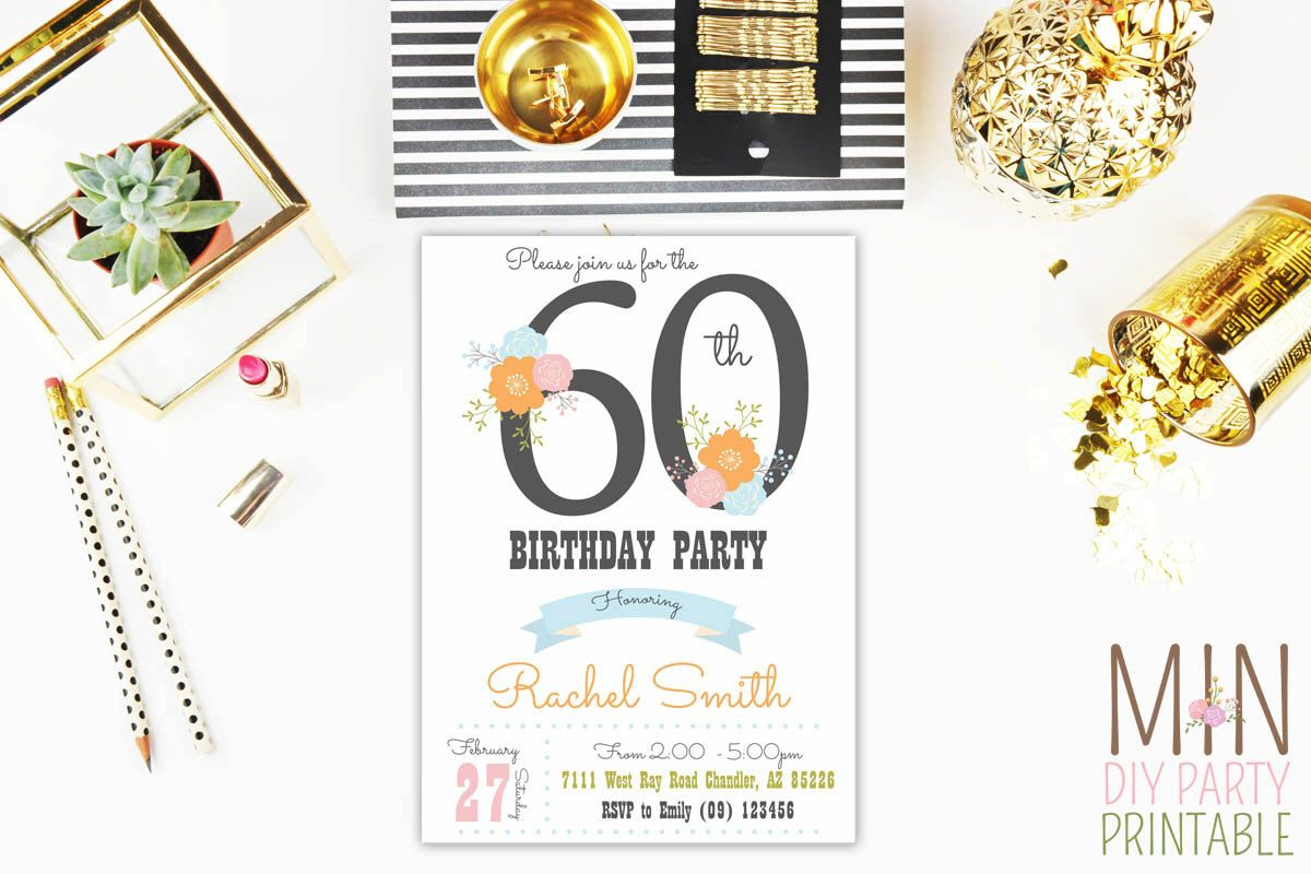 60th Birthday Invitation,Surprise Birthday Invite,Surprise Invite ...