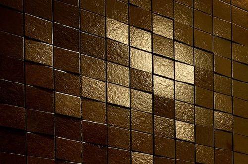 Braune Badezimmer Fliesen Art Kunst Dunkel Glänzend Funkeln
