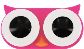 Owl Contact Lens Case. Provides 14 bowls of food for animals.
