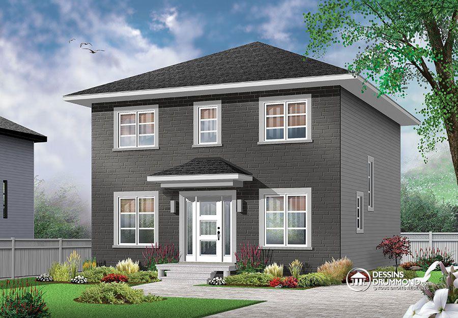 w3716 bon prix pour plan de maison moderne avec 3