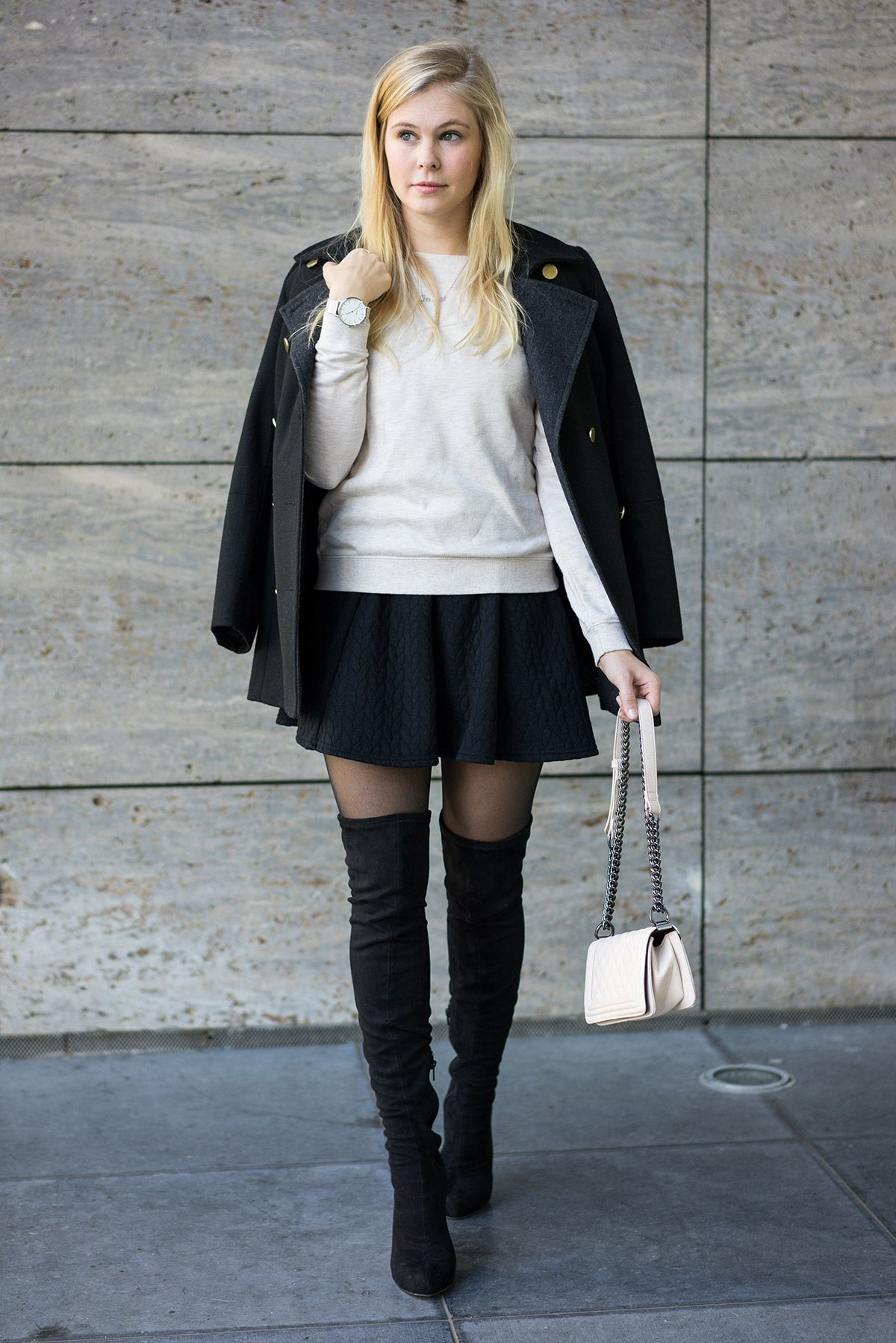Schwarze Overknees - Das perfekte Outfit by Sunnyinga ...