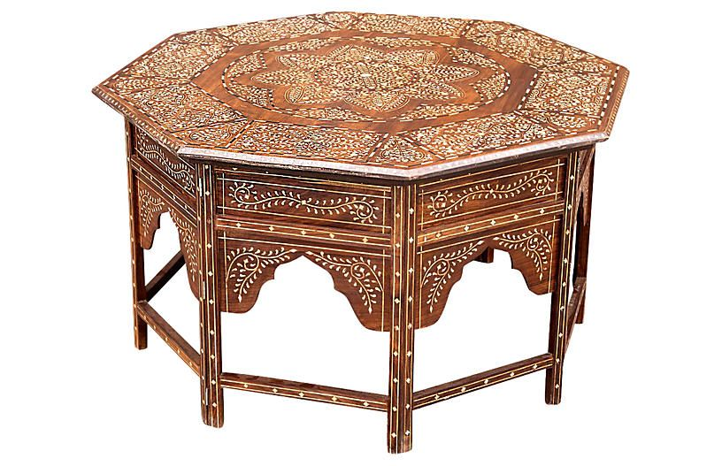 Superb Octagonal Bone Inlay Coffee Table New Arrivals Vintage Dailytribune Chair Design For Home Dailytribuneorg