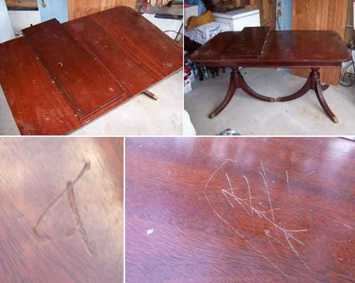 Refinishing Duncan Phyfe Table Need To Sell Mine But First Fix