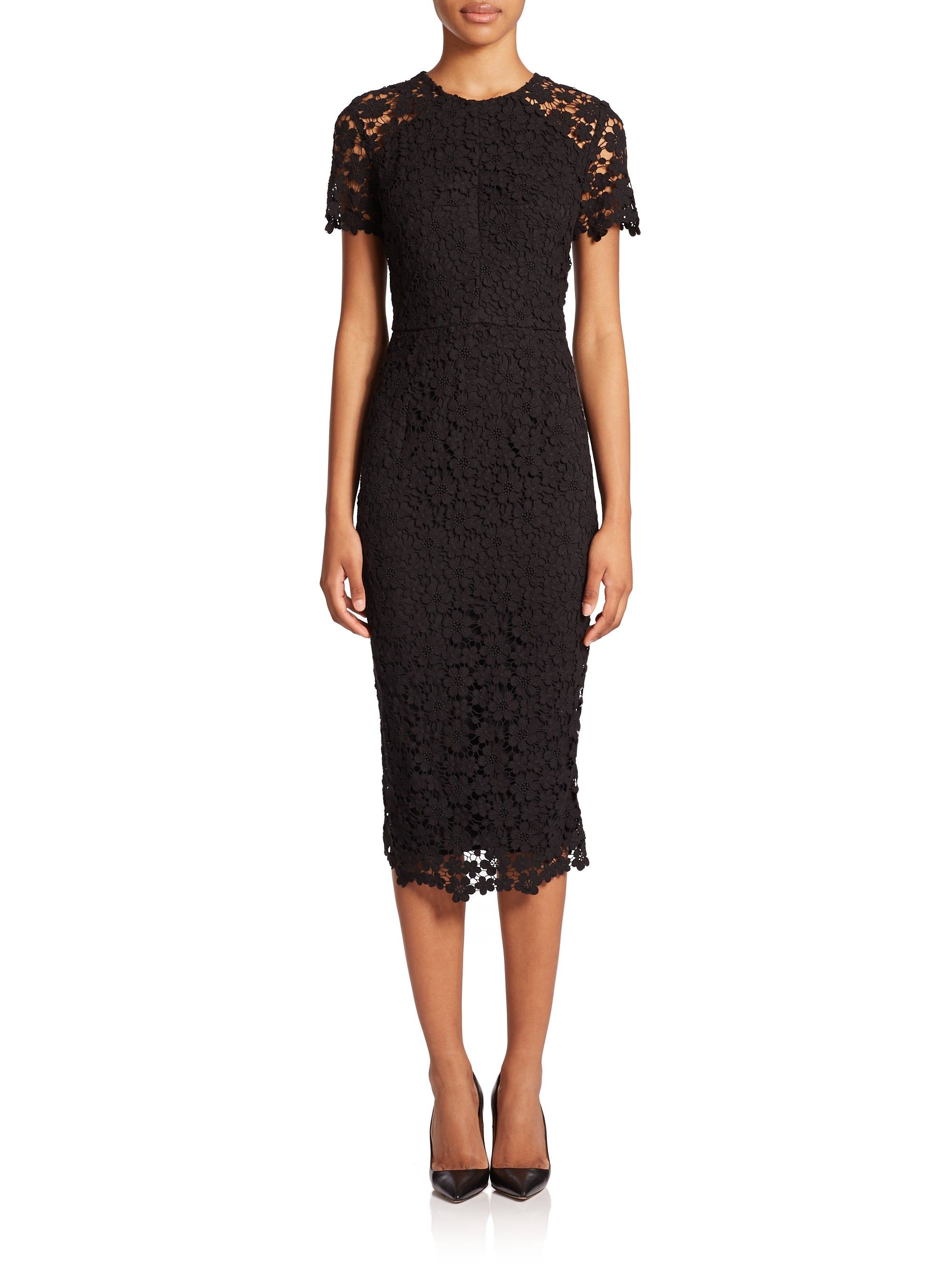 18b08a3ecaf Shoshanna Beaux Guipure Lace Sheath Dress - Jet 2