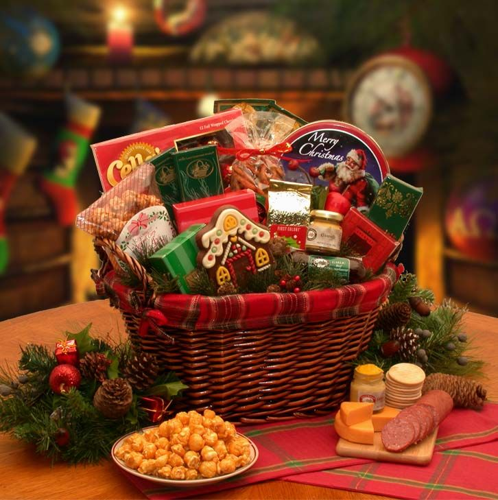 Christmas Gift Baskets For Families: Fireside Gourmet Gift Basket Your Friends, Clients, Family