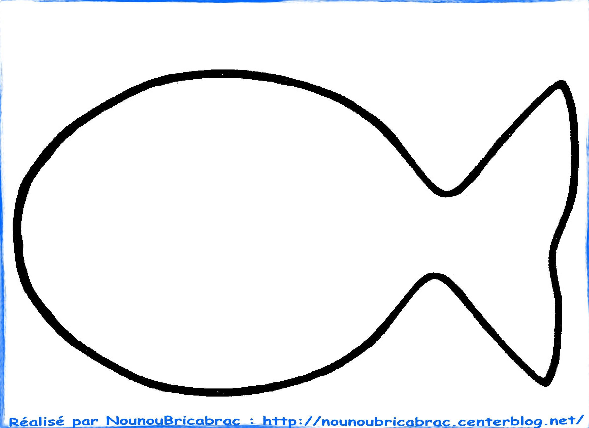 Poisson d 39 avril colorier projekty do wypr bowania fish template red fish et fish - Dessin a colorier poisson d avril ...