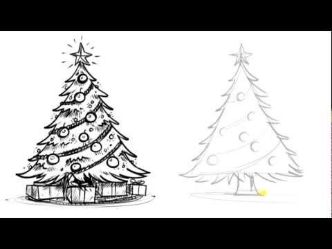 How To Draw A Christmas Tree Things To Draw When You Re Bored Youtube Christmas Tree Drawing Christmas Tree Drawing Easy Realistic Christmas Trees