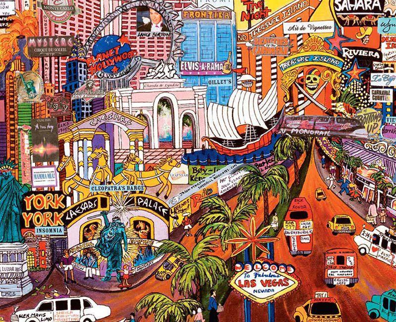 CITY LIGHTS JIGSAW PUZZLE LAS VEGAS GOLD II BY ROXY 750 PCS #2958-4
