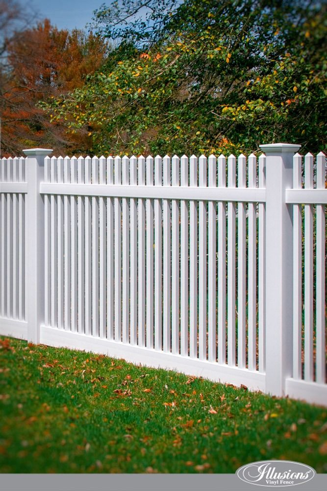 Who Makes The Best White Vinyl Fence Illusions Fence White Vinyl Fence Vinyl Fence Fence Styles