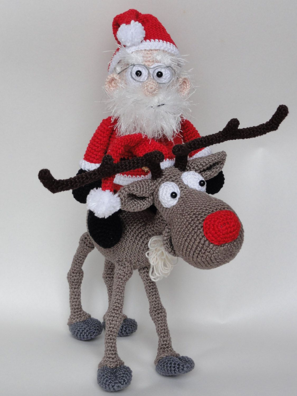 Amigurumi crochet pattern set santa claus and rudolf the amigurumi crochet pattern set santa claus and rudolf the reindeer bankloansurffo Choice Image