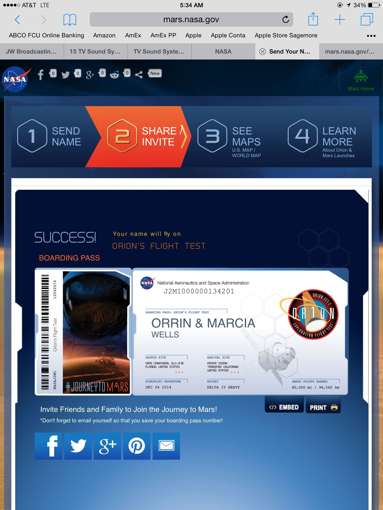 I Just Sent My Name To Fly On Orion S Flight Test Scheduled To