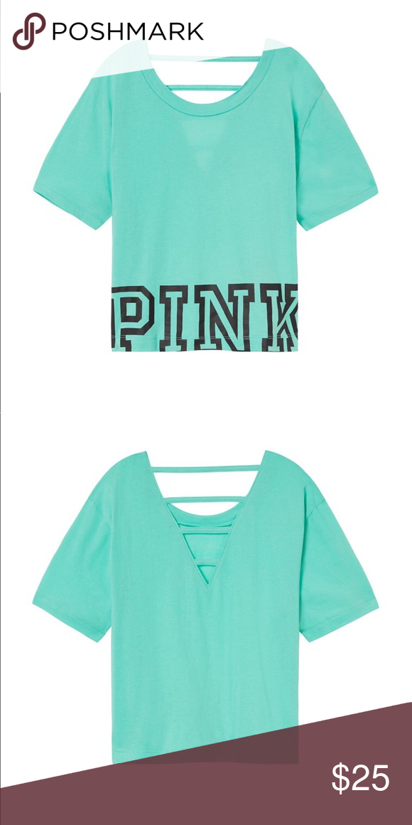 decbbabad188d Victoria's Secret PINK Ladder open back crop Tee It's a very cute ...