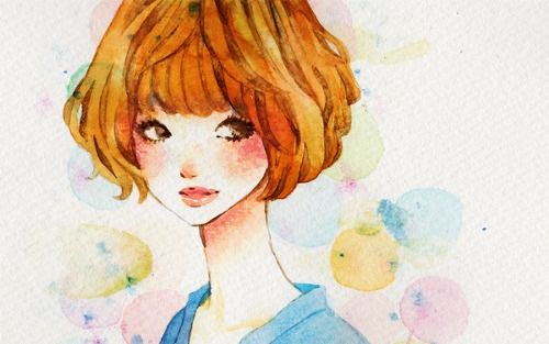 w-rabbits:  I wish I could wear a fluffy bob like in the first illustration…