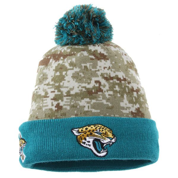 Jacksonville Jaguars New Era Youth On Field Sport Salute to Service Knit Hat  - Camo 3f96e9748