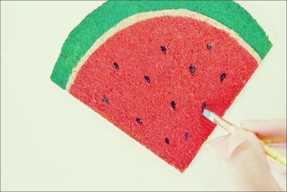 Erstellen Sie Einfache Wassermelonen Untersetzer Wassermelone