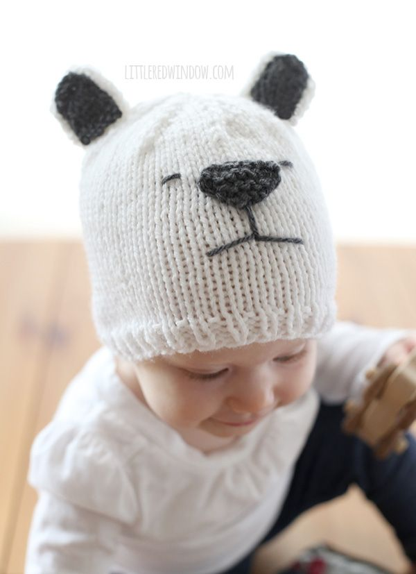 Little Polar Bear Hat Knitting Pattern | Pinterest