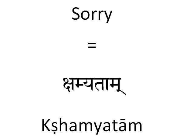 How To Say Sorry In Sanskrit  Sanskrit Language And Syllable