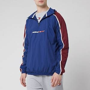 Tommy Sport Men's 1/2 Zip Windbreaker - Blue Ink 					 						Womens Clothing
