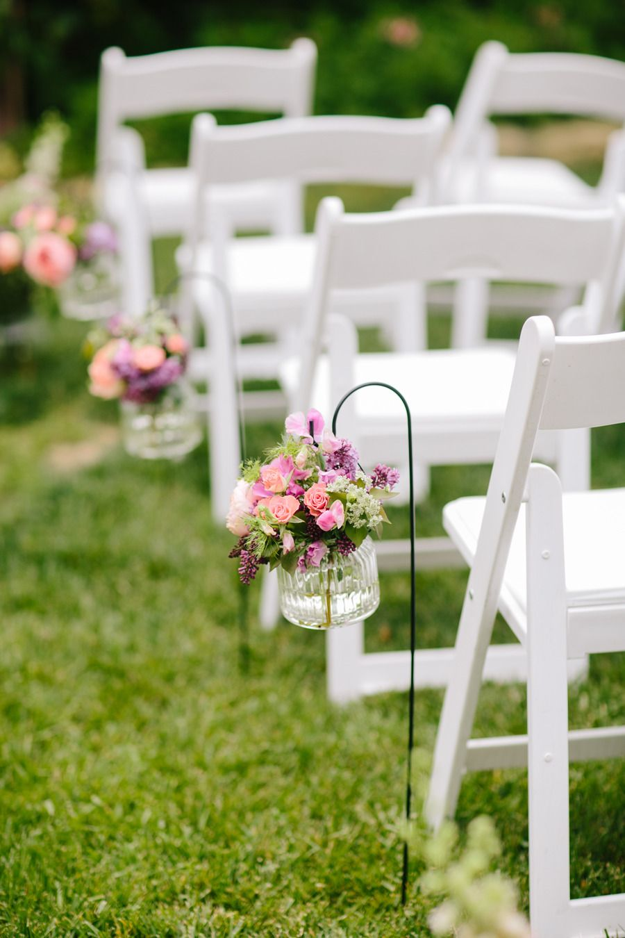 #aisle-decor  Photography: Mirelle Carmichael Photography - mirellecarmichael.com  Read More: http://www.stylemepretty.com/2014/09/18/charming-santa-barbara-estate-wedding/