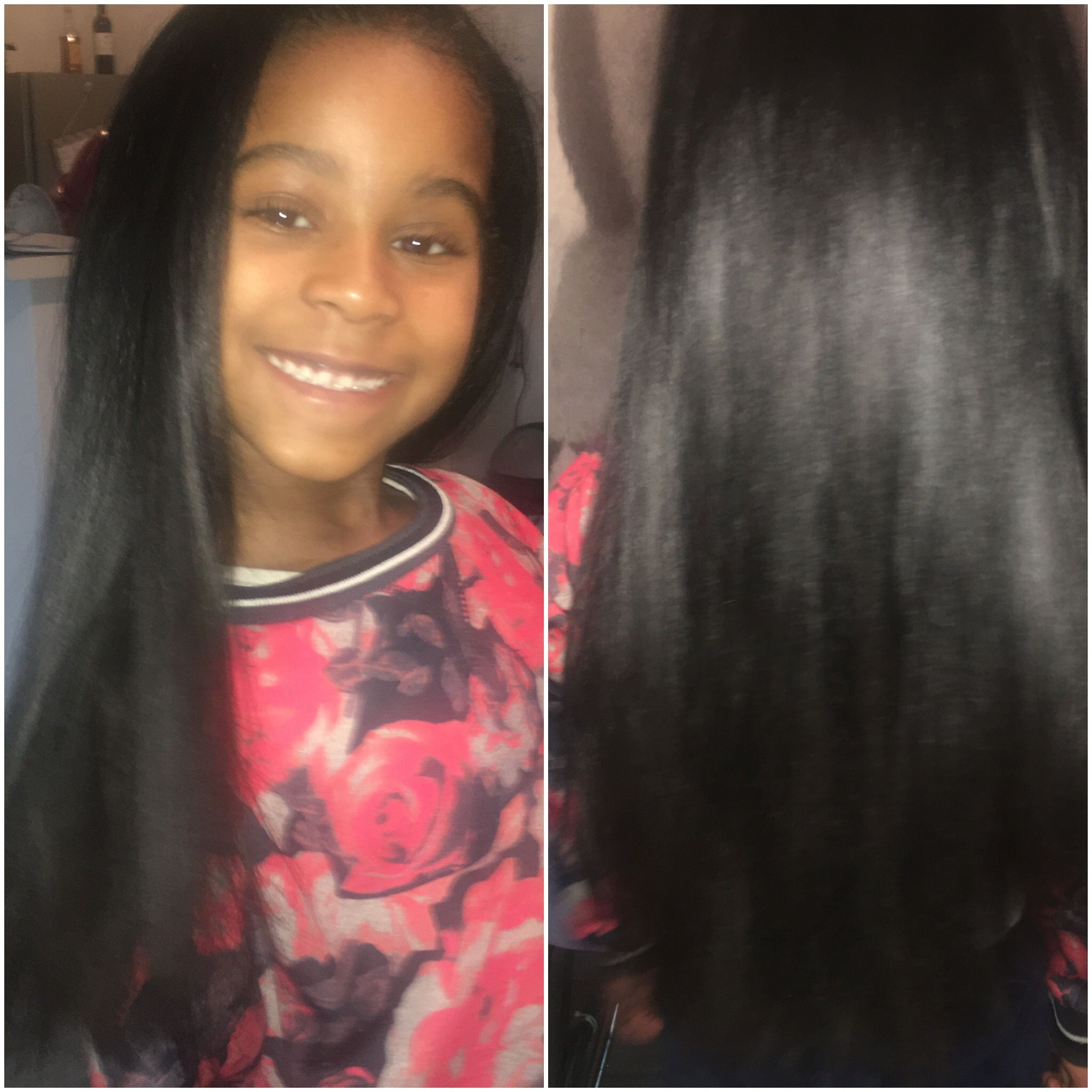 From curly to straight Kids and Hair