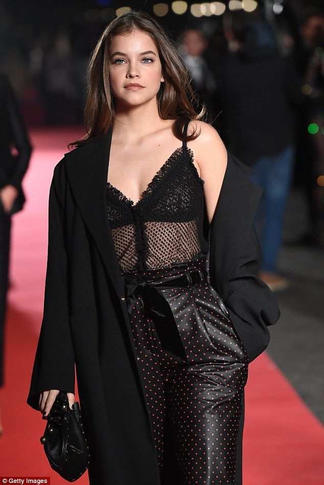 Barbara Palvin slips her model figure into polka dot trousers in ... 85330e0c9