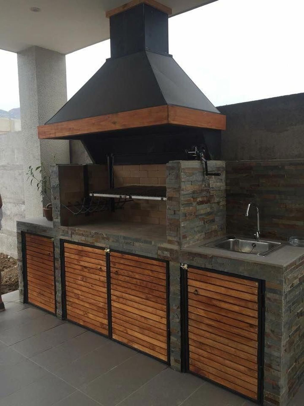 35 Fancy Outdoor Kitchens Design Ideas That You Need To Know In 2020 Diy Outdoor Kitchen Patio Fireplace Backyard Grill Ideas