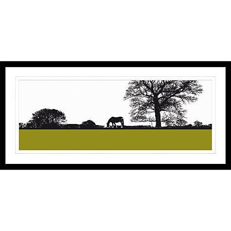 Buy jacky al samarraie landscape with horse framed print 104 x 49cm online