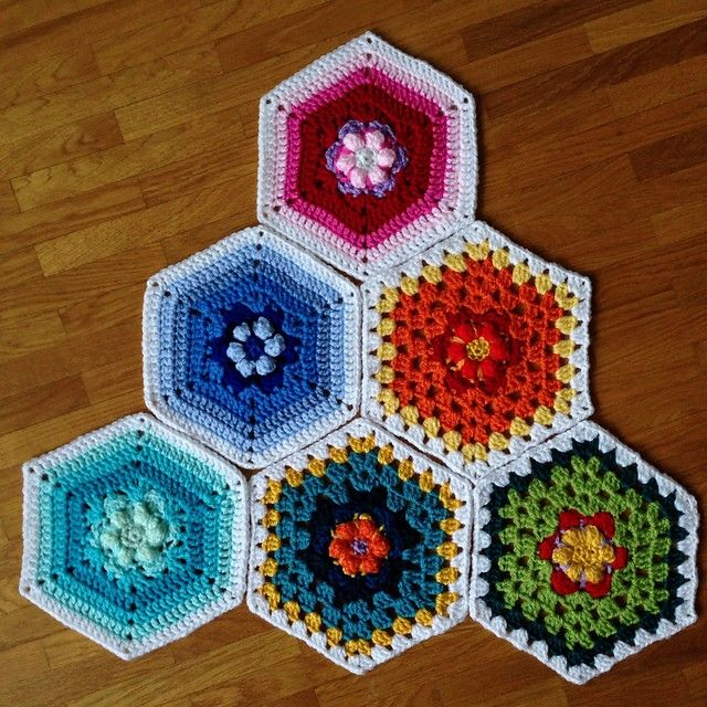 hexagons in bloom   Puntadas de ganchillo   Pinterest   Tejido de ...