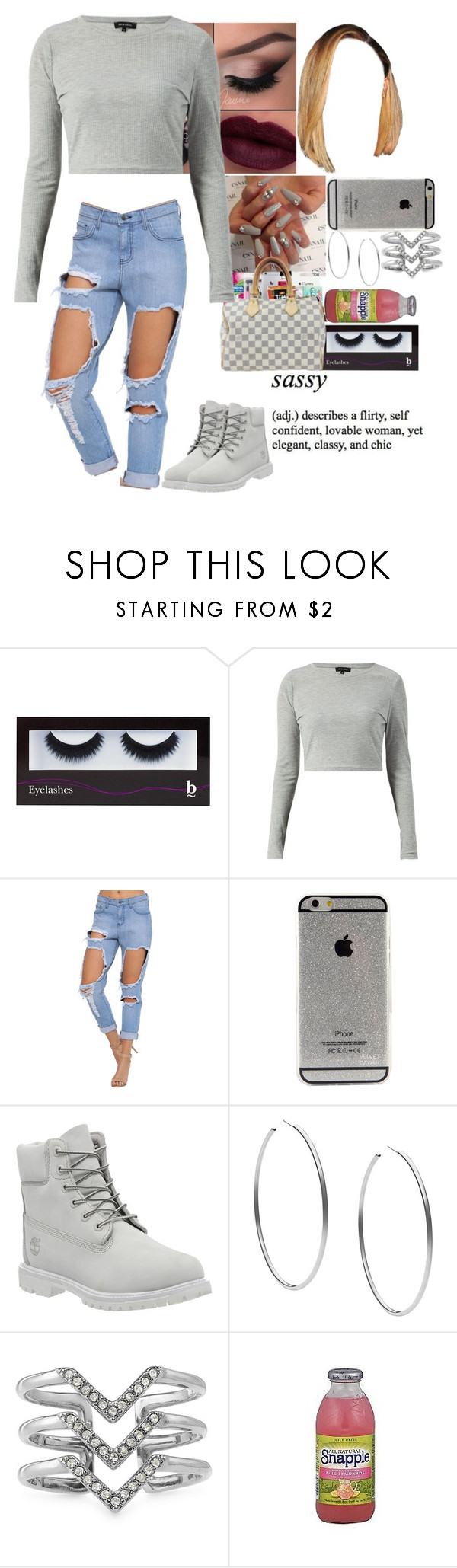 """""""Out"""" by divap01 ❤ liked on Polyvore featuring BBrowBar, Timberland, Michael Kors, Stella & Dot and FRUIT"""